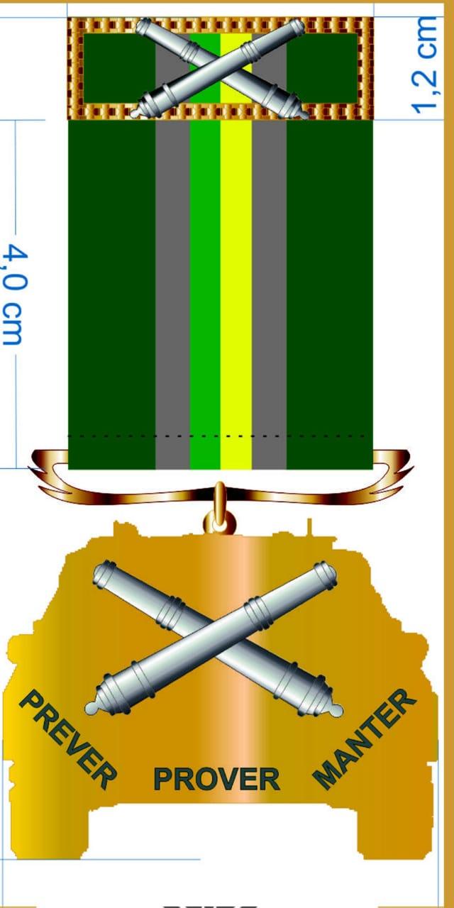 Medalha do material bélico